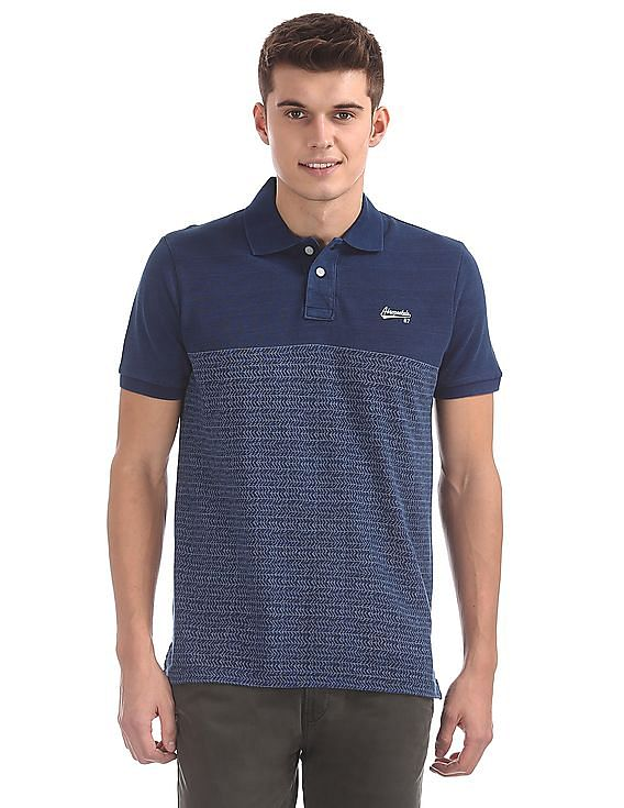 752baed55f7 Buy Men Regular Fit Printed Polo Shirt online at NNNOW.com