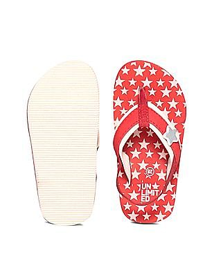 Unlimited Girls V-Strap Star Print Flip Flops