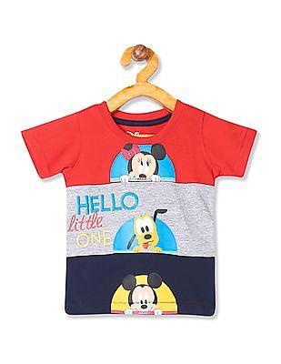 Colt Boys Colour Block Panel Cotton T-Shirt