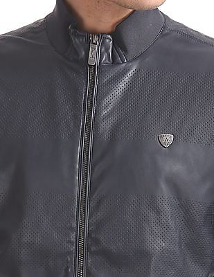 Arrow Sports Regular Fit Zip Up Biker Jacket