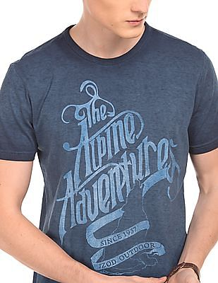 Izod Washed Printed T-Shirt