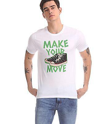 Colt White Sneaker Graphic Crew Neck T-Shirt
