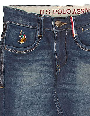 U.S. Polo Assn. Kids Boys Stone Wash Cotton Stretch Jeans