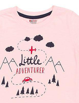 Donuts Boys Printed Front Slub T-Shirt