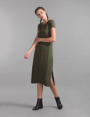 GAP V-Neck Midi Tee Dress
