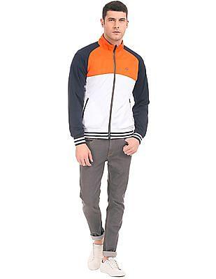 Arrow Sports Colour Block Panelled Reversible Jacket
