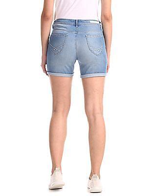 U.S. Polo Assn. Women Skinny Fit Denim Shorts