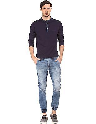 Ed Hardy Long Sleeve Henley T-Shirt