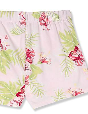 The Children's Place Pink Girls Matchables Print Knit Shorts