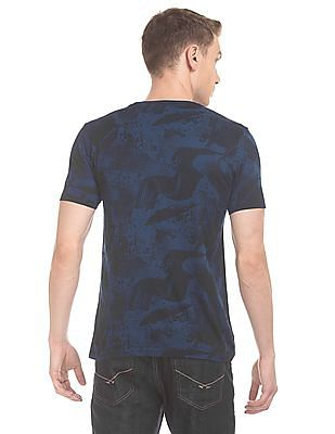 Flying Machine Abstract Print Slim Fit T-Shirt