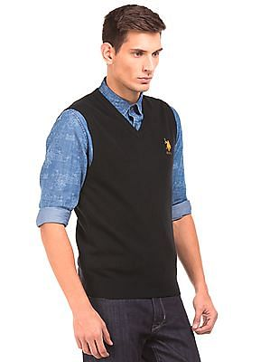 U.S. Polo Assn. Slim Fit V-Neck Sweater Vest