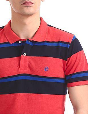 Ruf & Tuf Short Sleeve Striped Polo Shirt