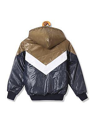 U.S. Polo Assn. Kids Boys Colourblocked Hooded Jacket