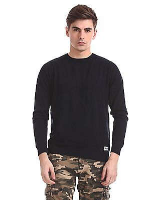 Flying Machine Slim Fit Patterned Striped Sweater
