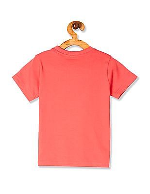 Cherokee Pink Boys Printed Crew Neck T-Shirt