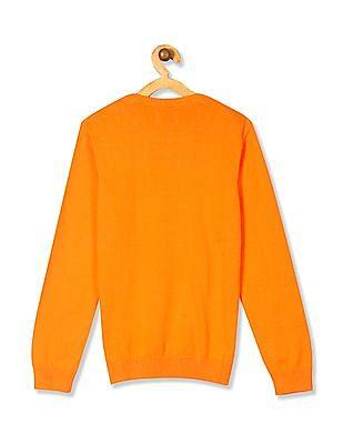 FM Boys Boys Crew Neck Graphic Sweater