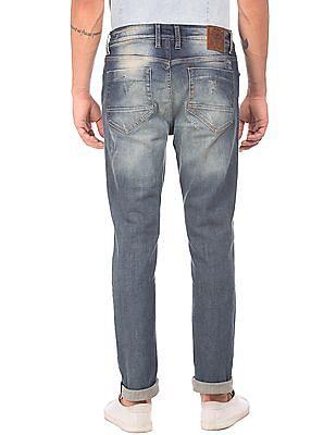 Ed Hardy Stone Washed Whiskered Jeans