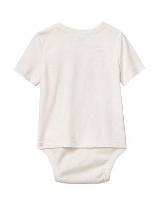 GAP Baby White Seafaring Graphic Body Double