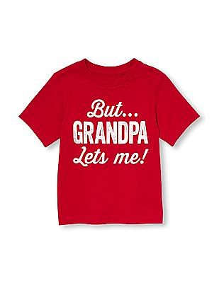 The Children's Place Toddler Boy Short Sleeve 'But...Grandpa Lets Me' Graphic Tee