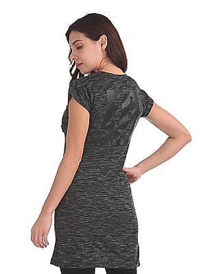 EdHardy Women Patch Pocket Heathered Tunic