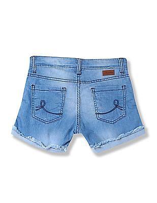 Cherokee Girls Washed Denim Shorts
