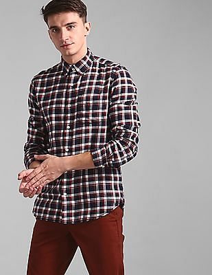 GAP Blue Slim Fit Check Shirt