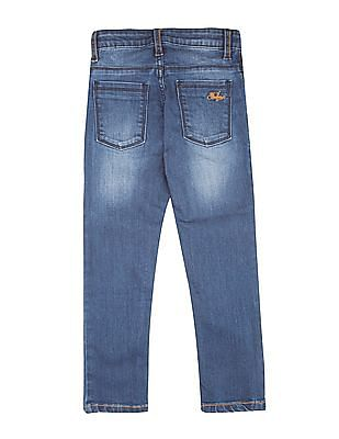 FM Boys Boys Stone Wash Whiskered Jeans