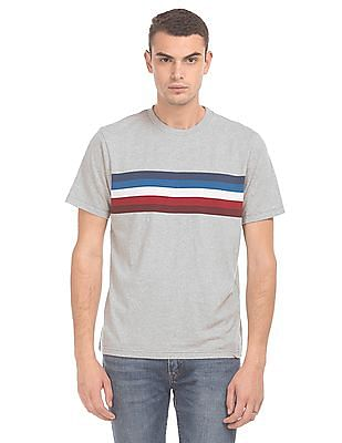 Aeropostale Crew Neck Striped T-Shirt