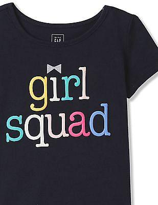 GAP Toddler Girl Blue Graphic Tee