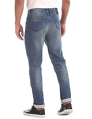 U.S. Polo Assn. Denim Co. Slim Fit Distressed Jeans