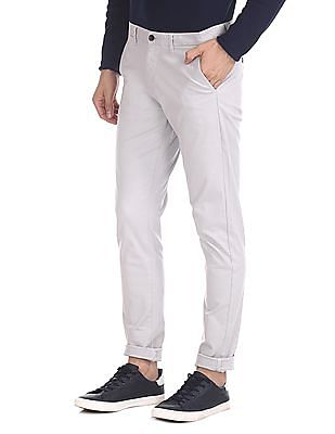Roots by Ruggers Flat Front Patterned Trousers