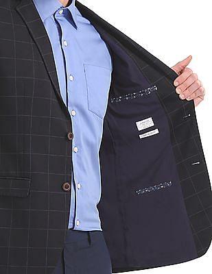 Arrow Slim Fit Checked Blazer