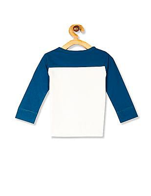 The Children's Place Toddler Boy Green Long Sleeve Colour Blocked Sweatshirt