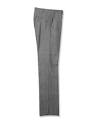 Arrow Autoflex Patterned Striped Trousers