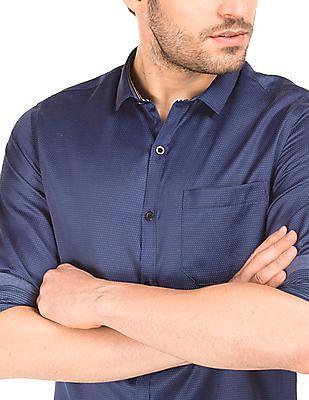 Excalibur Dot Print Slim Fit Shirt