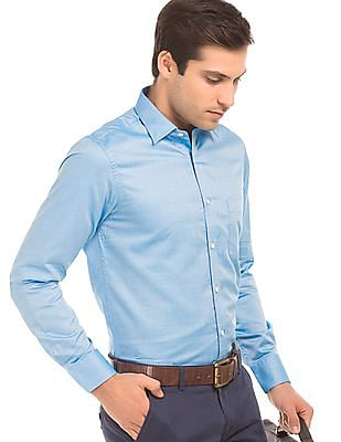 Arrow Textured Regular Fit Shirt