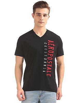 Aeropostale V-Neck Appliqued Front T-Shirt