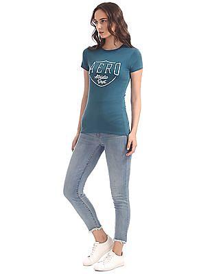 Aeropostale Regular Fit Appliqued T-Shirt