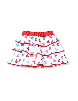 Colt Girls Contrast Print Tiered Skirt