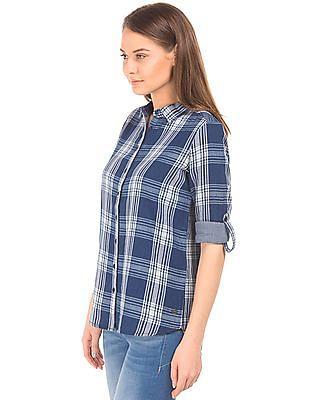 U.S. Polo Assn. Women Regular fit Check Shirt