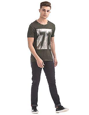 Ed Hardy Printed Short Sleeve T-Shirt