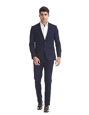 Arrow Newyork Blue Zero Calorie Slim Fit Solid Suit