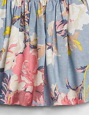 GAP Girls Floral Chambray Flippy Skirt
