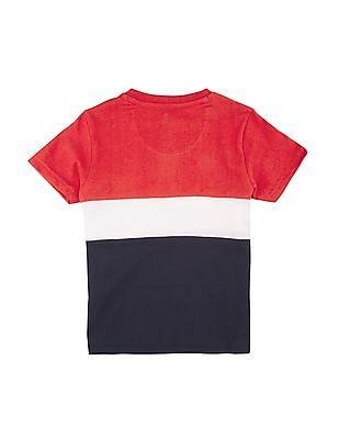 U.S. Polo Assn. Kids Boys Colour Block Henley T-Shirt