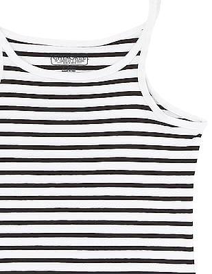 Cherokee Girls Monochrome Striped Camisole