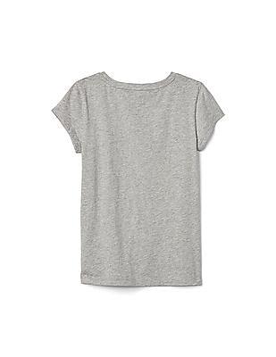 GAP Girls Glitter Graphic T-Shirt