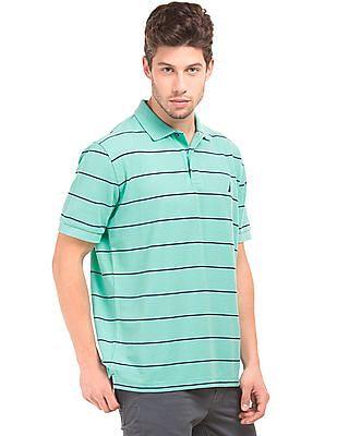 Nautica Striped Classic Fit Polo Shirt