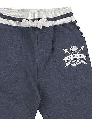 Cherokee Boys Striped Waist Heathered Track Pants