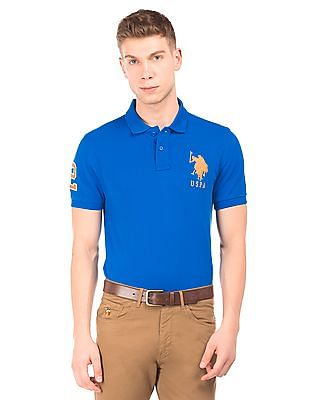 9d680ba9 Buy Men Brand Embroidered Pique Polo Shirt online at NNNOW.com