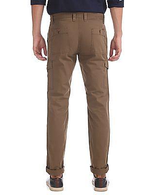 Izod Slim Fit Solid Trousers